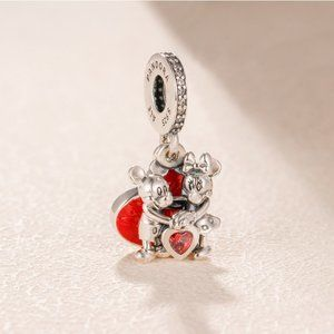 Mickey Mouse & Minnie Mouse Love Dangle Charm